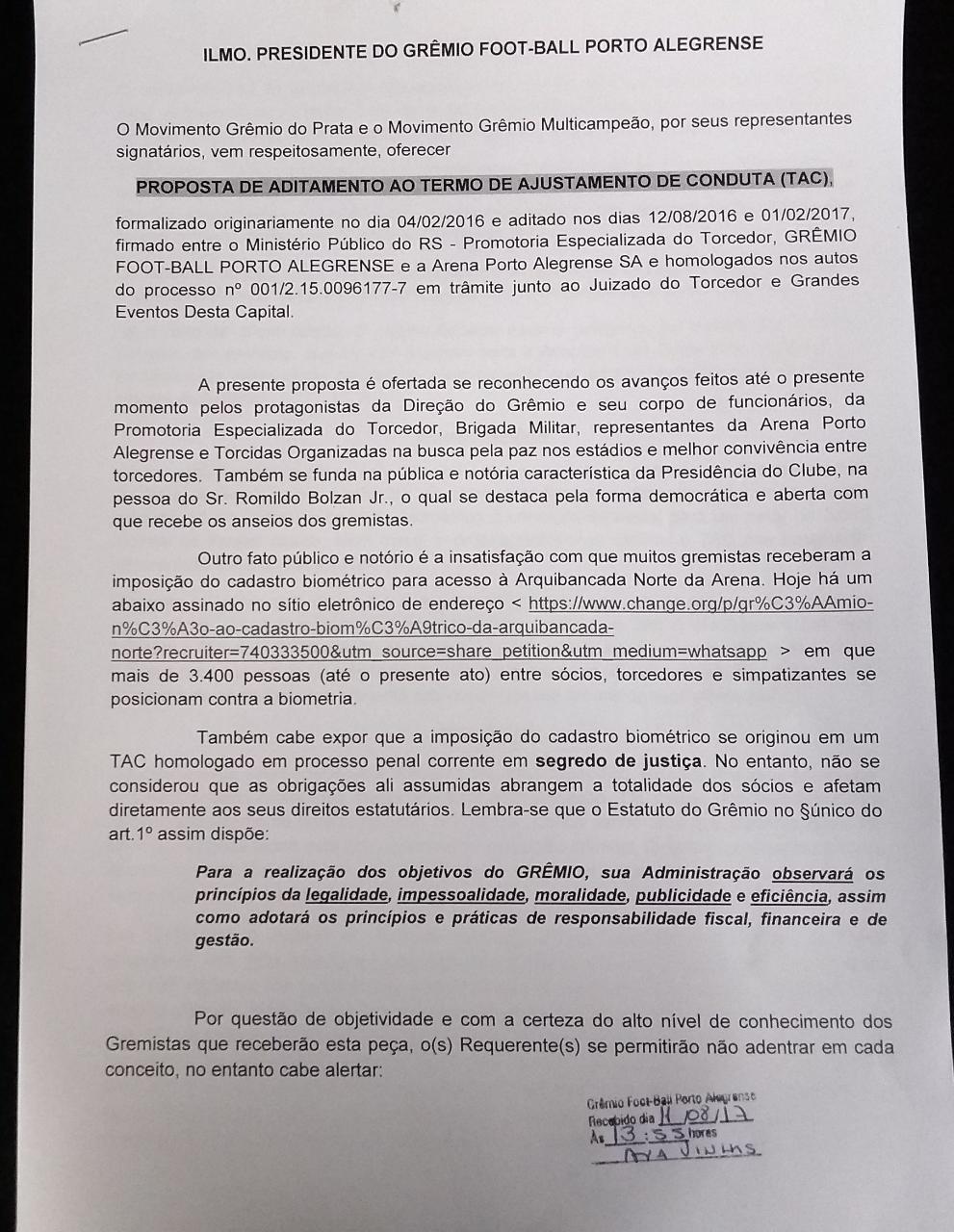 68b7aa4c466ac Grêmio do Prata e Grêmio Multicampeão protocolam proposta de ...